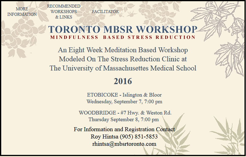 Toronto MBSR Workshop