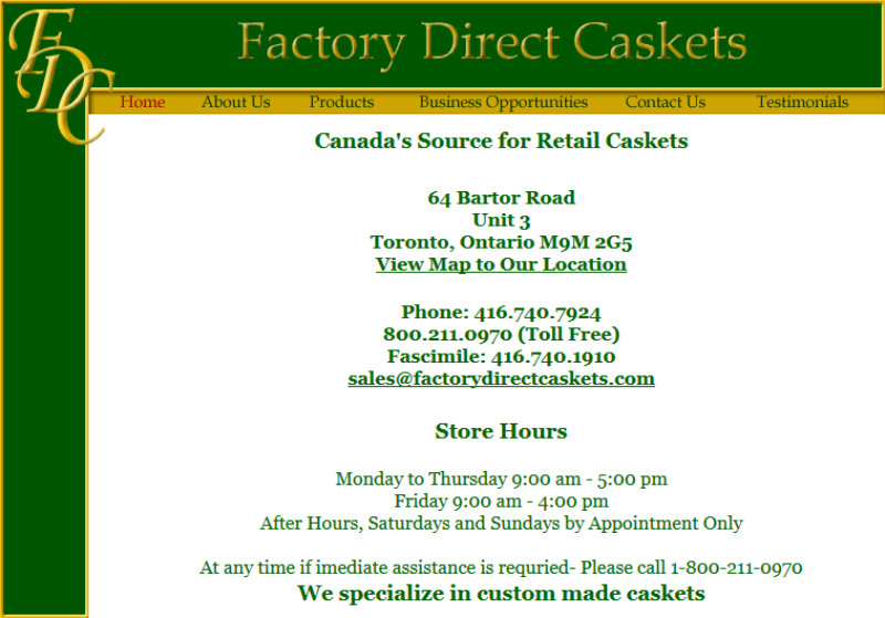 Factory Direct Caskets/Orion Caskets